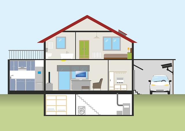 Grafik eines Haus zu den Abdichtungsebenen