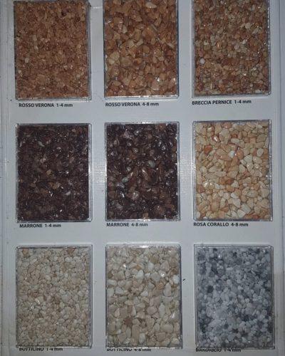 Verschiedene Körnungen und Farben Marmorsteinteppich