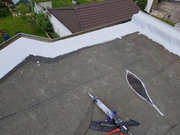 Abdichtung der Dachkante beim Flachdach