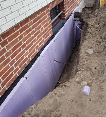 Abdichten eines Keller von außen in Hannover